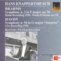 Hans Knappertsbusch conducts Brahms and Haydn